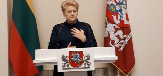 Treffen mit der litauischen Staatspräsidentin Grybauskaite