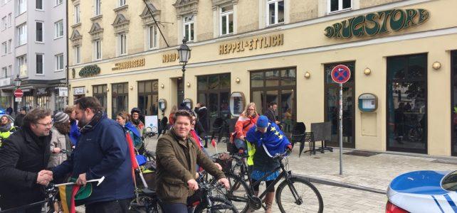 Fahrrad-Sternfahrt in München zur Europawahl